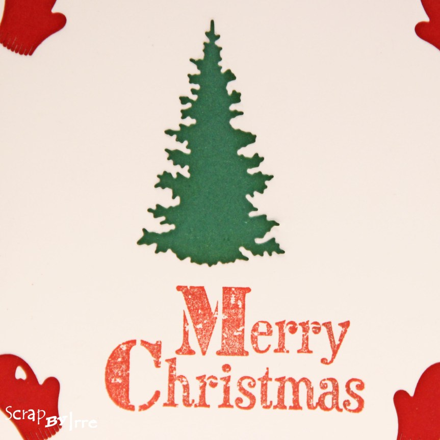 Christmas card with die-cuts and a stamped sentiment