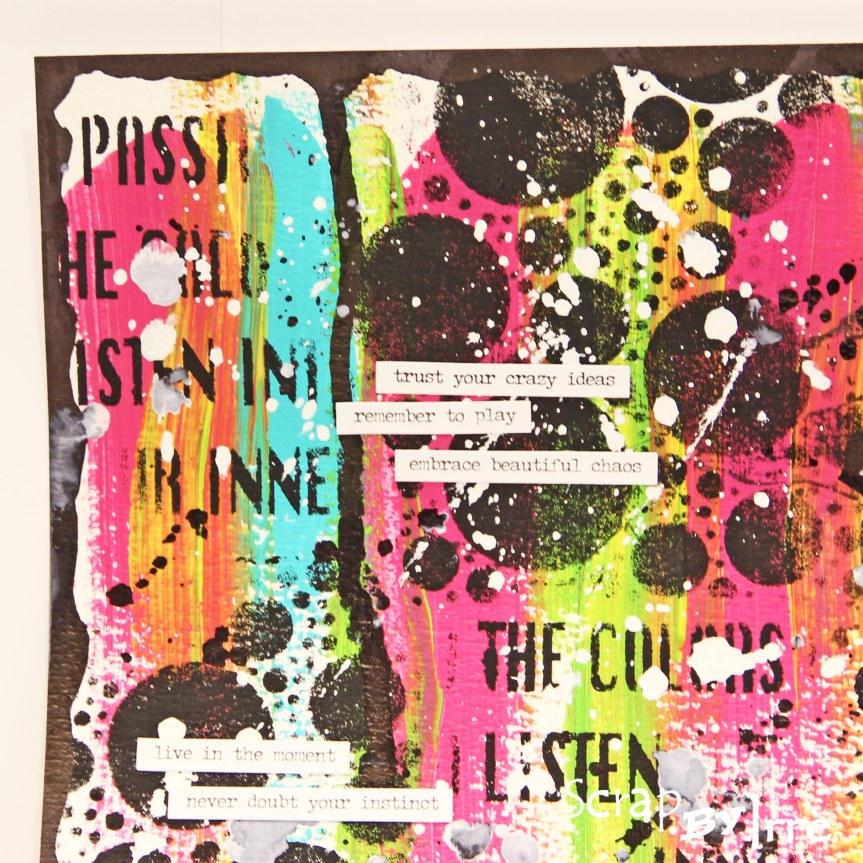 Art Journal with acrylic paint and Dylusions inksprays