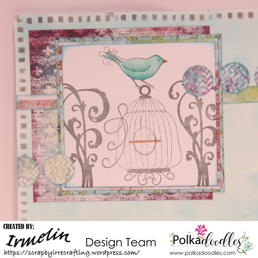 Art Journal with stamps from Belle Papillon stamp set