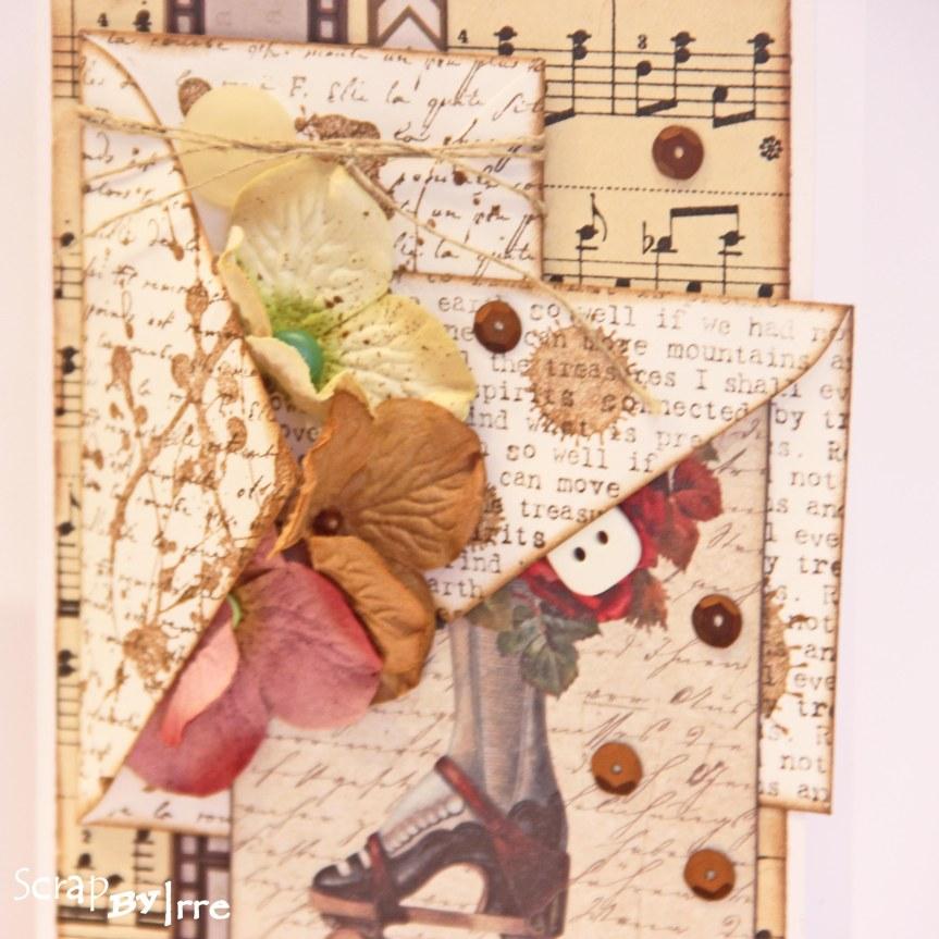 Card with stampedenvelopes