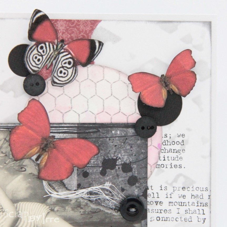Card with stamping and somebutterflies