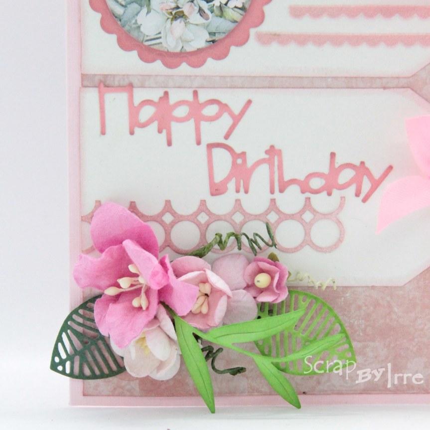 Birthday card in pinkcolors