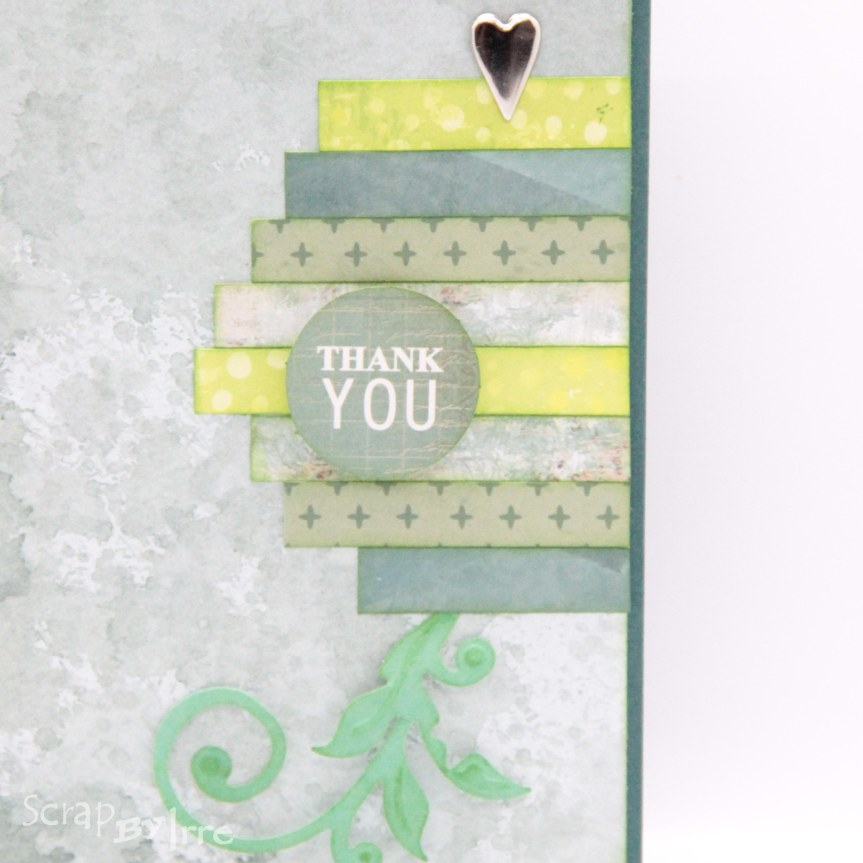Thank you card with paperstrips