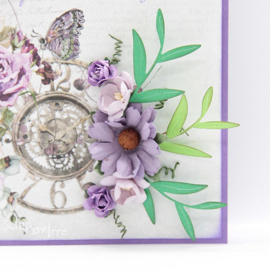 Card with a beautiful patterned paper