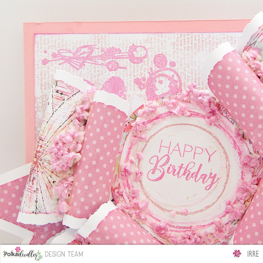 Bow card with Bright & Beautiful paper pack
