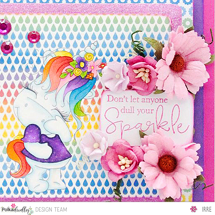 Card with Sparkle Unicorn Camera Shy 1