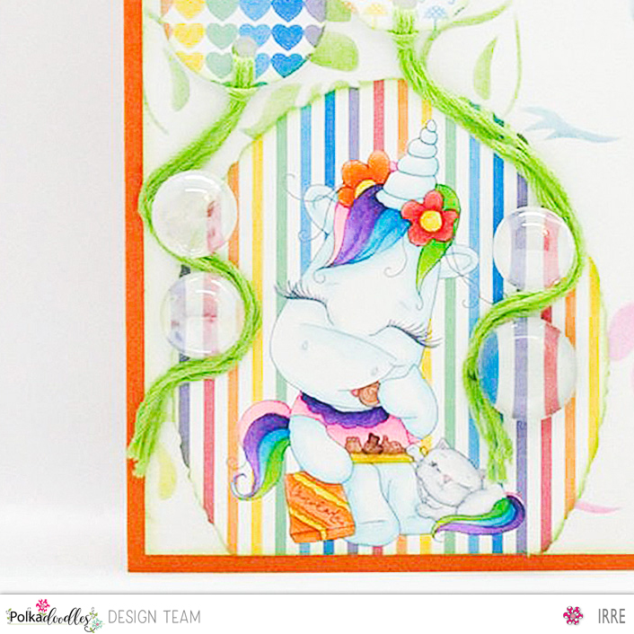 Card with Sparkle Unicorn Treat fortwo