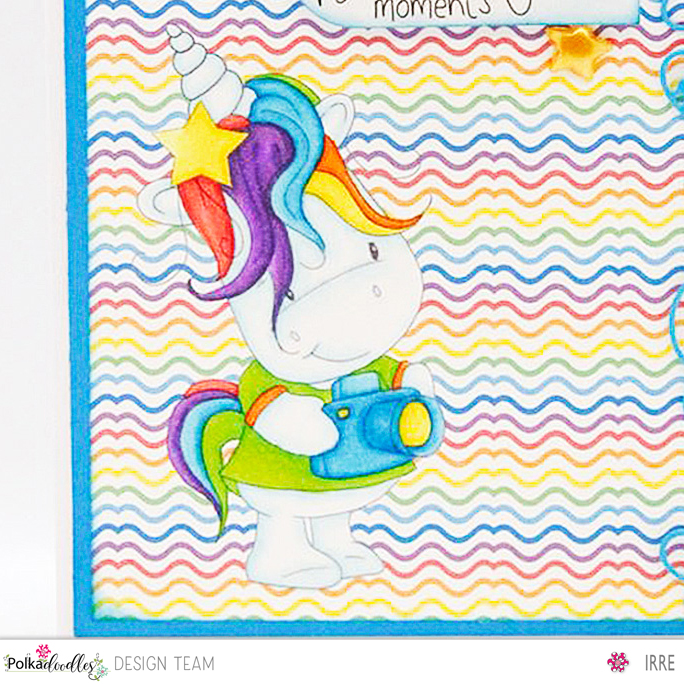 Card with Sparkle Unicorn Camera Shy2