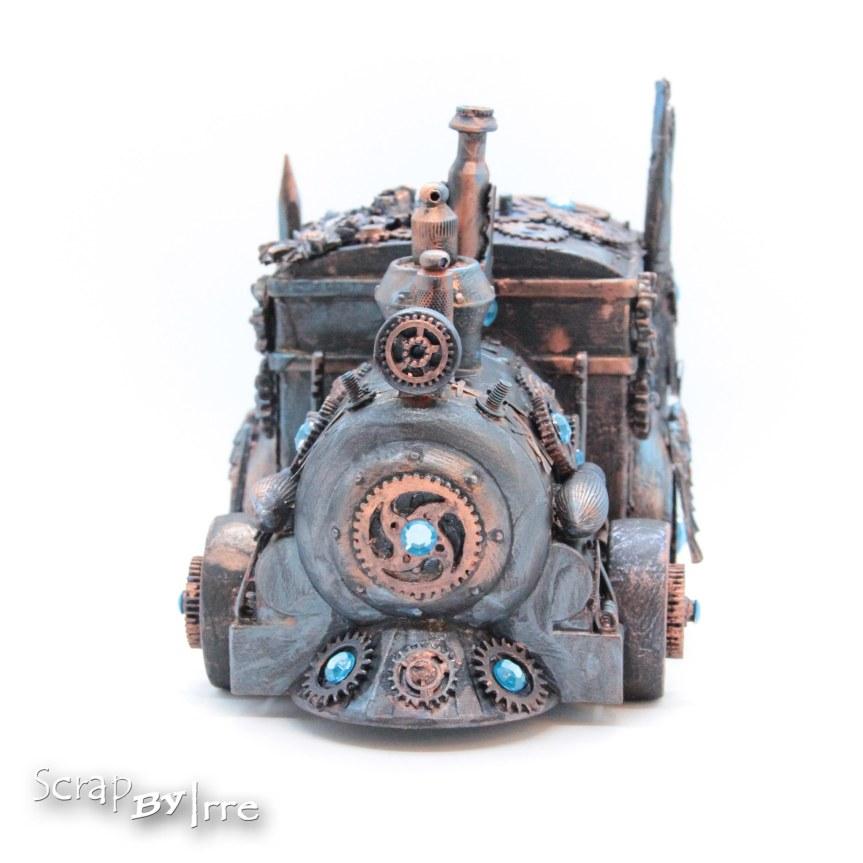 Altered toy locomotive