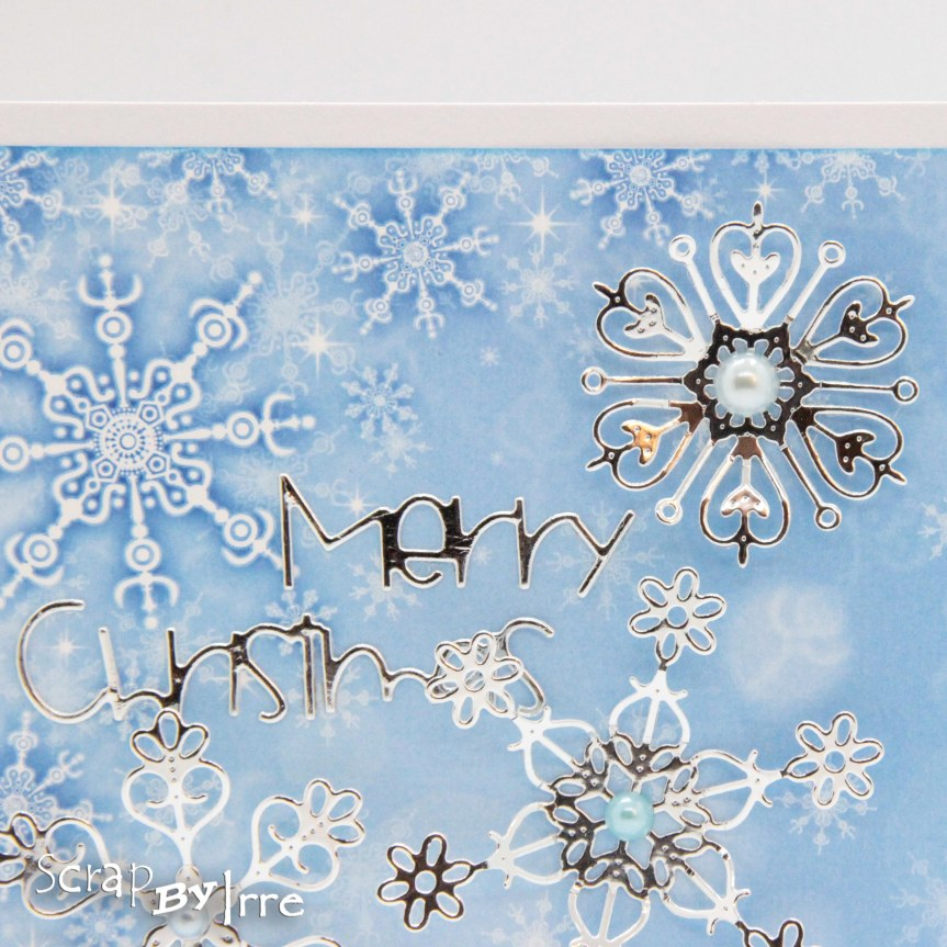 Christmas Card with foilSnowflakes