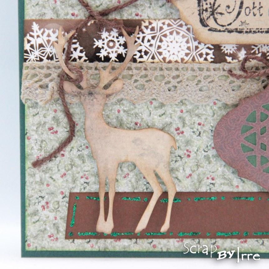 Christmas card with a die-cutdeer