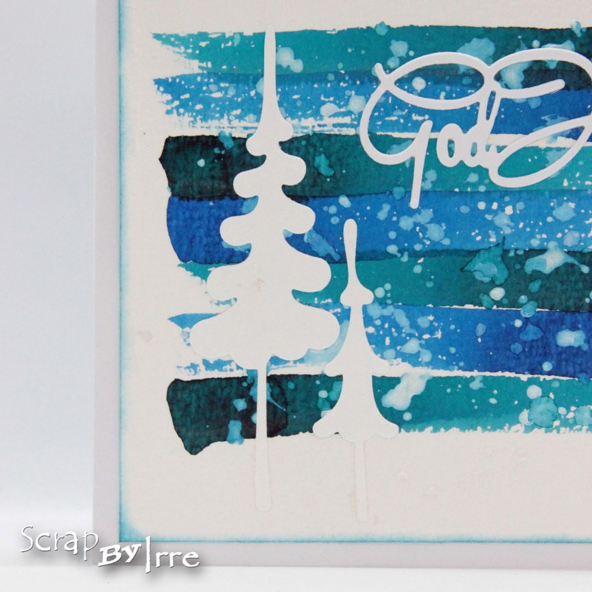 Christmas card with brushstrokes