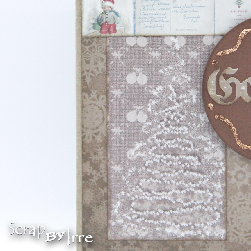 Christmas card in brown colors