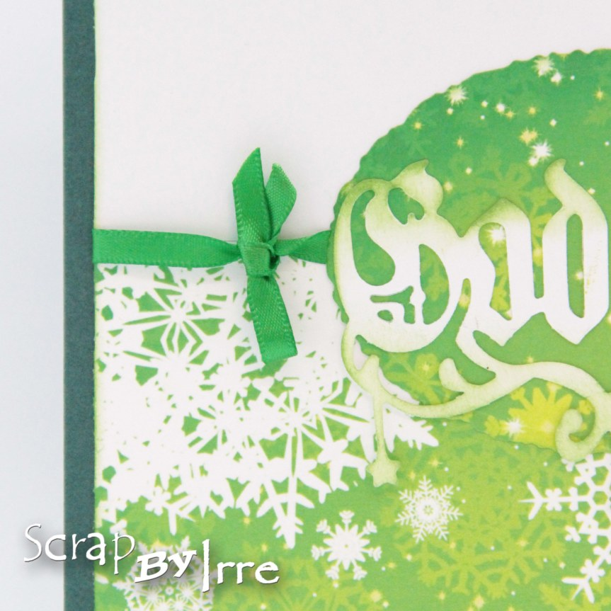 Christmas card in green colors