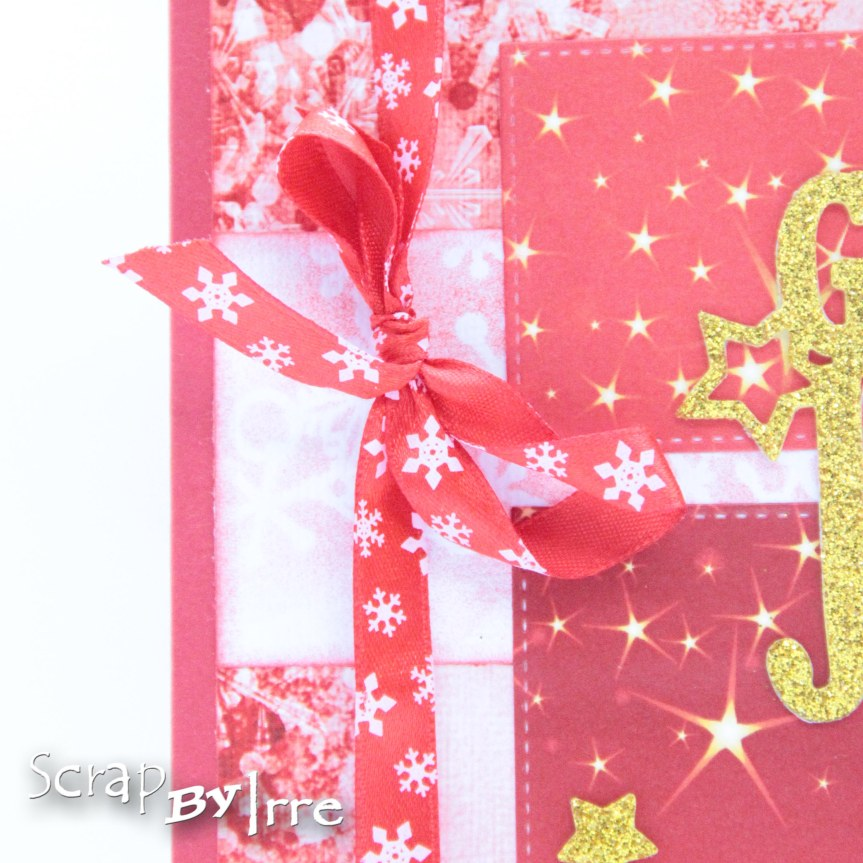 Christmas card with die-cutsquares